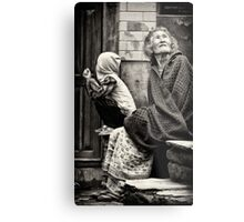 Old woman and child Metal Print