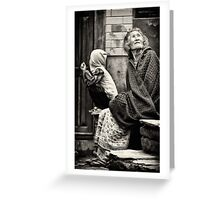 Old woman and child Greeting Card