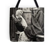 Old woman and child Tote Bag