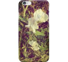 Antique Look Print of Pretty Sweet Pea flowers iPhone Case/Skin