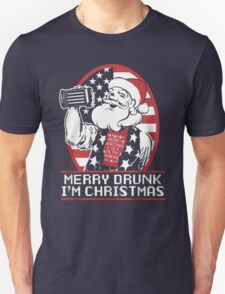 Merry Drunk I'm Christmas -Ugly Christmas- Santa Ugly christmas sweat T-Shirt