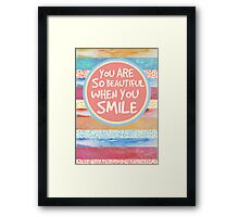 When You Smile Framed Print