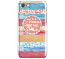 When You Smile iPhone Case/Skin
