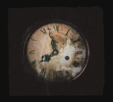 Antique Feel Photograph of an Eerie Clock Face Kids Clothes