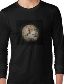 Antique Feel Photograph of an Eerie Clock Face Long Sleeve T-Shirt