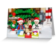 Marty, Doc and Rudolph Greeting Card