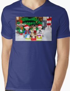 Marty, Doc and Rudolph Mens V-Neck T-Shirt