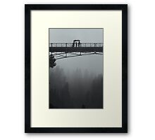 Bridge over the Fog Framed Print