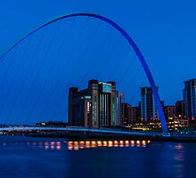 Gateshead Millennium Bridge Colours by Trevor Kersley