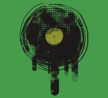 Green Melting Vinyl Records Vintage  by Denis Marsili - DDTK