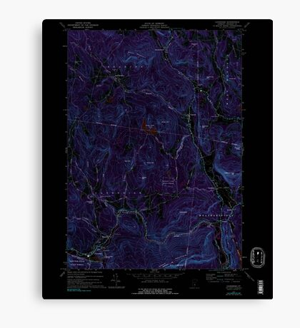 USGS Topo Map  Vermont VT Cavendish 337361 1972 24000 Inverted Canvas Print