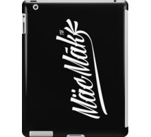Macmak™ logo on black background. iPad Case/Skin