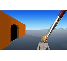 SURREALISM - Exiting The Four Walls Photographic Print