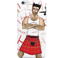 Wolverine in a Kilt iPhone Case/Skin