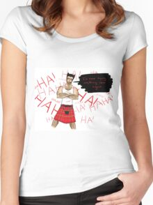 Wolverine in a Kilt Women's Fitted Scoop T-Shirt
