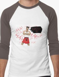 Wolverine in a Kilt Men's Baseball ¾ T-Shirt