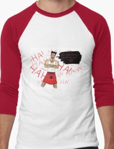 Wolverine in a Kilt Men's Baseball ¾ T-Shirt