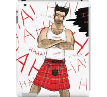 Wolverine in a Kilt iPad Case/Skin