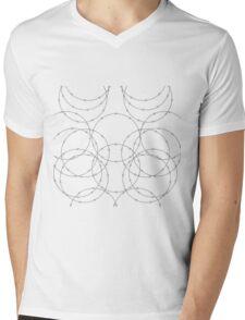 Razor Wire Leggings Mens V-Neck T-Shirt