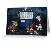 Doctor Whobuns Greeting Card