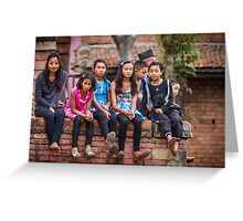 Nepalese youth Greeting Card