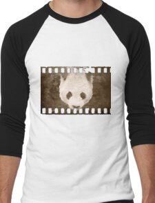 Panda caught on film: TIFF Men's Baseball ¾ T-Shirt