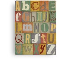 Retro Alphabet Canvas Print