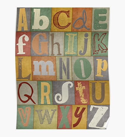Retro Alphabet Poster