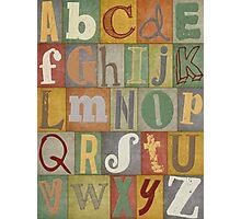 Retro Alphabet Photographic Print