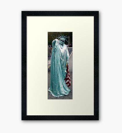 Kiss on a Hand of a Lady..? Framed Print