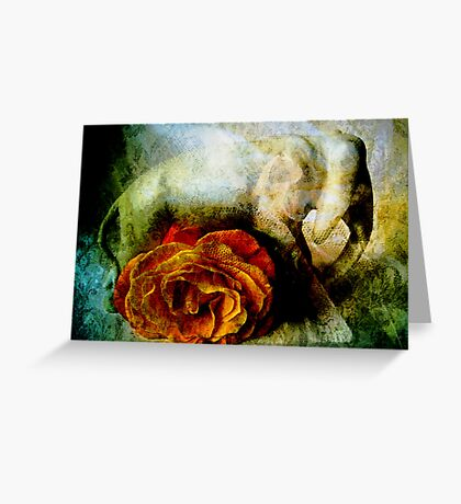 Lucky Elephant & Gentle Rose Greeting Card