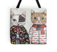 Kitty Couple Tote Bag