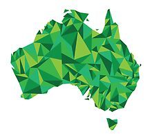 Abstract Australia Emerald Forest by Travla Creative