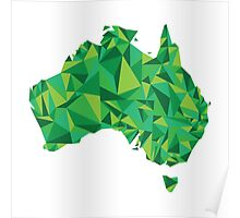 Abstract Australia Emerald Forest Poster