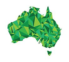 Abstract Australia Emerald Forest Photographic Print