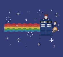 Donna, Wilfred and 10th Doctor Rainbow Flyer by rydiachacha