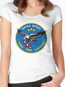 Latvian Air Force Emblem Women's Fitted Scoop T-Shirt