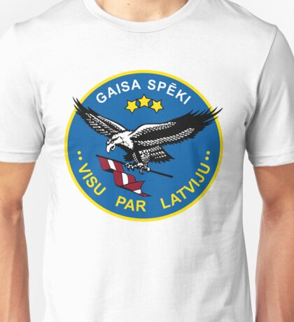 Latvian Air Force Emblem Unisex T-Shirt
