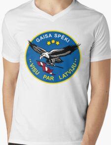 Latvian Air Force Emblem Mens V-Neck T-Shirt