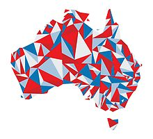 Abstract Australia Aussie Patriot by Travla Creative
