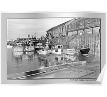 Scarborough Harbour Poster