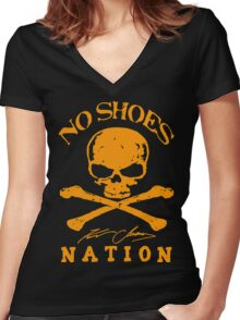 No Shoes Nation Kenny Chesney DBN (2) Women's Fitted V-Neck T-Shirt