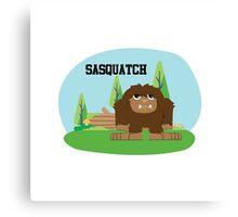 Cute Cartoon Sasquatch Canvas Print