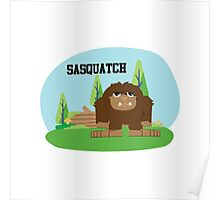 Cute Cartoon Sasquatch Poster