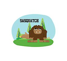 Cute Cartoon Sasquatch Photographic Print
