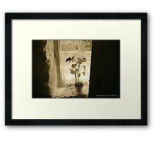 Window on the Past, Cultra, County Down. Framed Print
