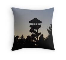 The Lonely Lookout (Color) Throw Pillow