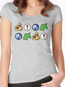 Animal Crossing Items 2 (in many colours!) Women's Fitted Scoop T-Shirt