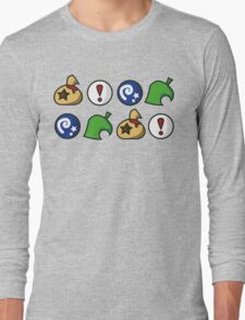 Animal Crossing Items 2 (in many colours!) Long Sleeve T-Shirt