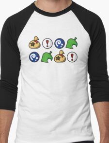 Animal Crossing Items 2 (in many colours!) Men's Baseball ¾ T-Shirt